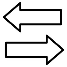 An Icon Design Of Opposite Direction Arrows, Data Transfer