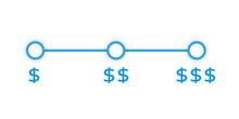 Price Range Picker Design. Clipart Image
