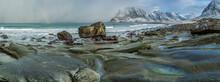 Rainbow, Arctic, Beach, Blue, Blurred, Blurred Motion, Clouds, Cloudy, Coast, Coastline, Dramatic, Dramatic Sky, Fjord, Glacier, Haukland, Land, Lofoten, Lofoten Archipelago, Lofoten Islands, Moskenes