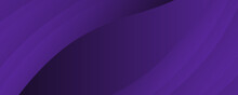 Dark Violet Background For Wide Banner With Wave Shapes. Background Illustration With Moderate Violet, Dark Orchid And Very Dark Blue Color And Space For Text Or Image. Can Be Used As Header Or Banner