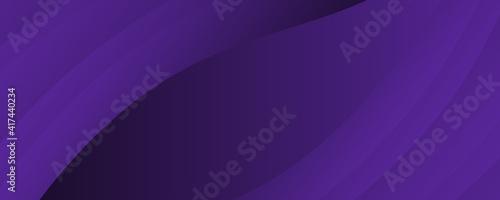 Obraz na płótnie Dark violet background for wide banner with wave shapes
