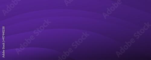 Fotografie, Obraz Dark violet background for wide banner with wave shapes