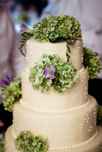 Delicious Weeding Cake At Reception