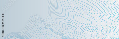 Blue wave lines on white background. Abstract wave element for design. Digital frequency track equalizer. Stylized line art background. Vector illustration. Wave with lines created using blend tool. - fototapety na wymiar