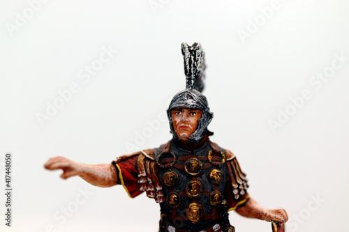 Fototapeta roman centurion miniature warrior figure