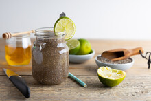 Homemade Chia Fresca . Homemade Chia Fresca, Made From Chia Seeds Lemon And Honey. Chia Seeds Are Very Good For Your Health.