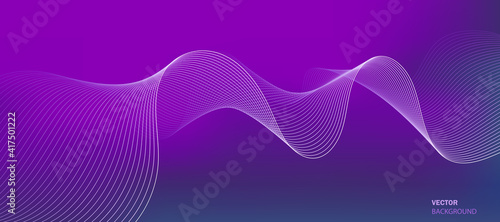 Business background lines wave abstract stripe design. Gradient background, purple mesh abstract, vector blurred soft blend color gradation.
