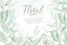 Editable Greenery Floral Arrangement Background