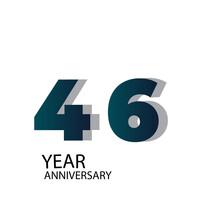 Year Anniversary Vector Template Design Illustration Blue Elegant White Background