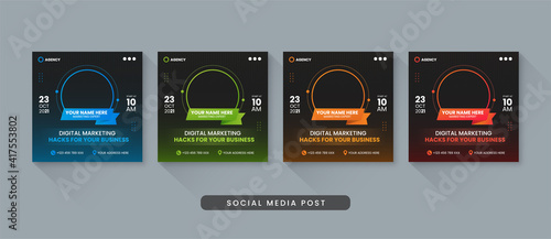Obraz Digital marketing business social media post template - fototapety do salonu