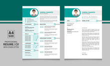 Jimena Canavesi Professional One Page Cv Format Resume Template With One Page Cover Letter