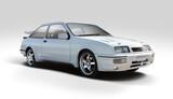 Fototapeta Miasto - Classic British sport car isolated on white background