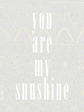 Wall Art Post Vintage Inspiring Phrase With Lace Pattern Set  Of 10 Images