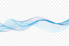 Blue Wave Lines Pattern Abstract Background. Vector