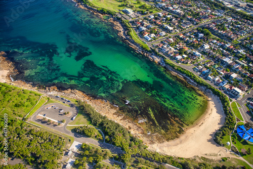Amazing aerial view of Gordons Bay along Sydney coastline, Australia © jovannig