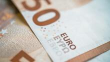 Euro Banknotes Close Up View - Euro Macro View