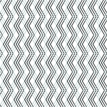 Abstract Geometric Pattern With Lines, Rhombuses Vector Background.