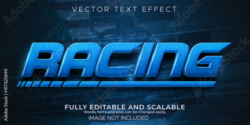 Fototapeta Speed race text effect, editable fast and sport text style.. obraz