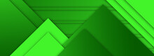 Abstract Green Background With Triangles