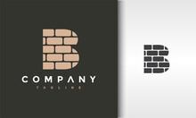Initials B Brick Logo