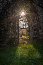 Margam Abbey Ruins, Margam Country Park, The Chapter House. Neath Port Talbot, Wales, United Kingdom