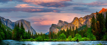 Yosemite Valley In Spring Time