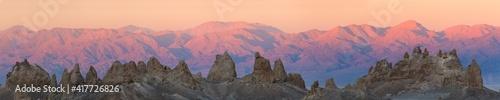 Fotografia USA, California. Composite panoramic of Trona Pinnacles.