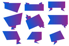 Purple Ribbons In Realistic Style. Vector Illustration. Blue Abstract Vector Set. Stock Image. EPS 10.