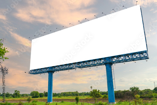 blank billboard ready for new advertisement at green park zone © weerayut