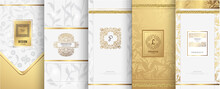 Collection Of Design Elements For Logo,packaging,design Of Luxury Products.for Perfume,soap,wine, Lotion.Made With Isolated On Marble Background.vector Illustration