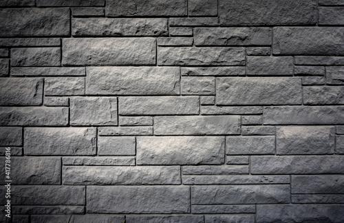 Fototapeta Stone wall background geometric texture obraz