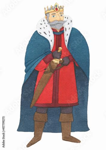 Fotografie, Obraz Stately medieval king