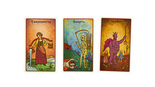 Tarot Cards Collection Temperance, Death, The Devil