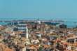 Aerial view of the city of Venice. Tourism in Italy.