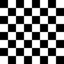 Chess 8x8 Pattern. Vector Black White Pattern.