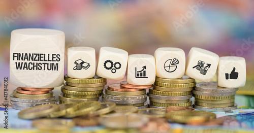Finanzielles Wachstum Wallpaper Mural