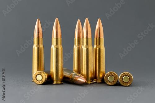 Fototapeta Bullets on gray background