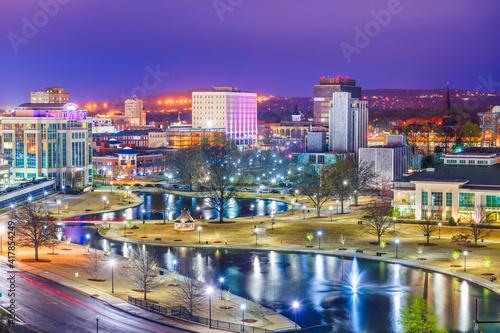 Huntsville, Alabama, USA park and Downtown Cityscape Fototapeta
