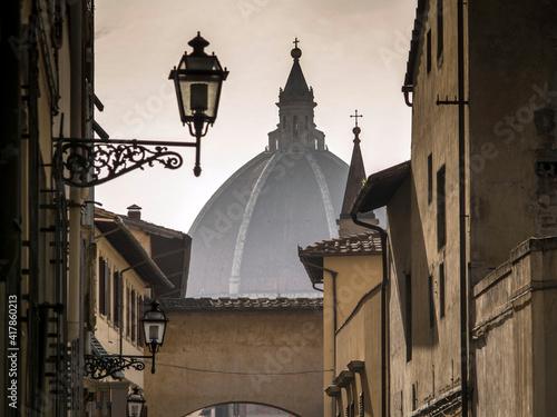 Obraz na plátne Italia, Toscana, Firenze, veduta della città e la cupola del duomo