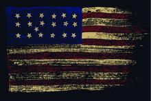 Vintage Usa Flag Abstract Vector