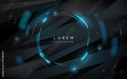 Fototapeta Abstract technology circle lines background obraz