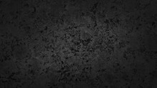Rough Black Cement Stone Tile Flooring Background. Abstract Dark Black Cement With Stone Slate Pigment Texture Background With Space For Design. Vignette Rustic Black Stone Background.