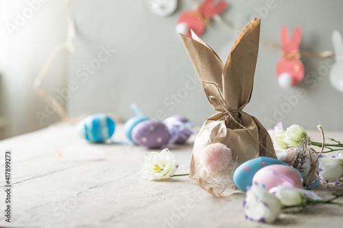Pom Pom Easter Bunny Craft Poster Mural XXL
