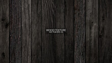 Old Weathered Barn Wood Texture Close-up. Dark Wooden Background, EPS 10 Vector.