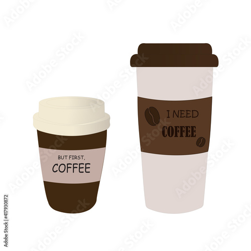 Fotografia, Obraz Coffee cup/ But first, coffee / I need coffee