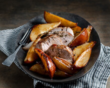 Roast Pork Tenderloin And Bosc Pears