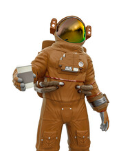 Astronaut Is Holding A Coffee Cup