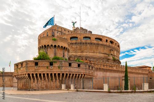 Castelo de Sant´Ângelo, margens do rio Tibre, Roma Fototapet