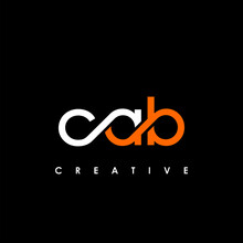 CAB Letter Initial Logo Design Template Vector Illustration