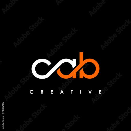 Obraz na płótnie CAB Letter Initial Logo Design Template Vector Illustration